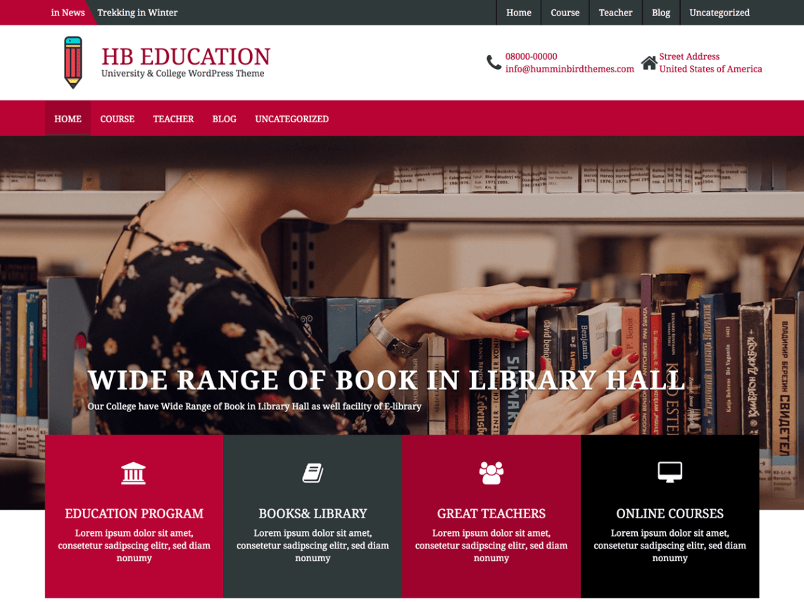 best free education wordpress theme
